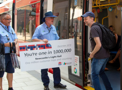 One million customers on Newcastle light rail