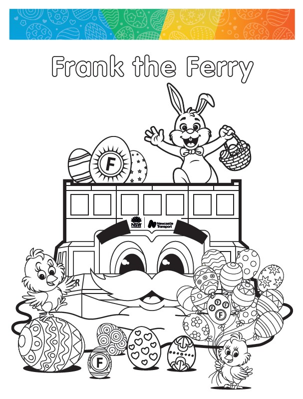 Frank the ferry colouring in sheet